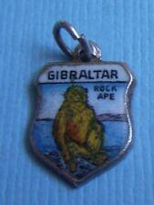 shield silver charm Vintage Gibraltar Rock Ape