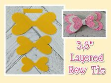 "🎀 3.5"" Triple Bow Tie Plastic Template  🎀"