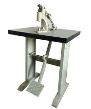 "Grommet & Snap Press Machine By Foot,With Wood Top & L LEGS,22""x24""x28"",USA SALE"