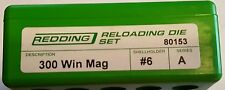 80153 REDDING 300 WINCHESTER MAGNUM WIN MAG DIE SET - BRAND NEW - FREE SHIPPING