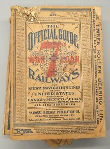 May 1945 Guide of the Railways & Steam Lines of the US, PR, Canada, Mexico, Cuba