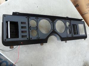 1985 1986 Ford Mustang GT Capri Grey & Black Instrument Gauge Cluster Dash Trim