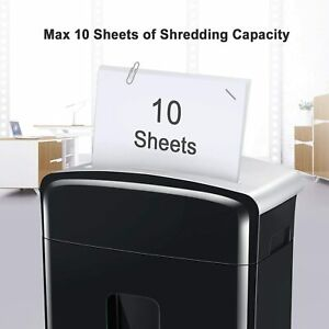 Bonsaii 10 Sheet Micro Cut Paper Shredder,Heavy Duty Paper Shredders for Home Of