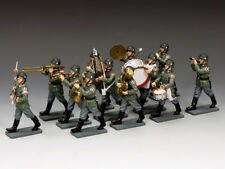 KING & COUNTRY WW2 GERMAN ARMY WH013 12 PIECE WEHRMACHT MARCHING BAND MIB