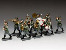 King & Country 1:30 Armée Allemande 12 Pièces Wehrmacht Marcheur Bande Petit Soldats (WH013)