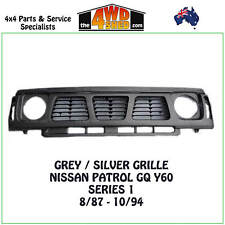 GRILLE SILVER GREY suits NISSAN PATROL GQ Y60 SERIES 1 1987-1994 GRILL SURROUND