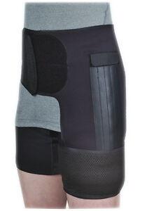 Hip Support Groin Black Stabiliser Brace Fracture Pain Arthritis Adjustable
