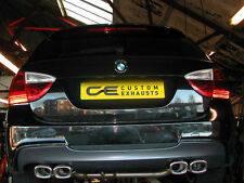 BMW 3 SERIES ESTATE STAINLESS STEEL EXHAUST BACK BOX DUAL TWIN TAIL PIPES TIPS