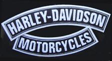 HARLEY DAVIDSON CHENILLE  TOP & BOTTOM ROCKERS JACKET VEST BACK PATCH (2PC SET)