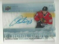 2014-15 UD Glacial Graphs hockey card Patrick Kane signed Chicago Blackhawks