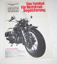 Prospetto/opuscolo MOTO GUZZI V 850 carlifornia, 250, TS 750 S, 850 T!