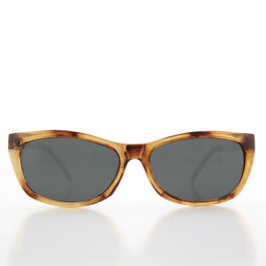 Tortoise Rectangular Beatnik Deadstock Sunglass with Glass Lens - Jordan