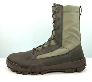 """Nike SFB Jungle 8"""" Field Tactical Boots Olive Brown 631372-222 Men Size 12.5"""