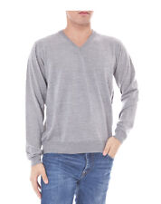 Romeo Gigli Herren V-Neck Pullover Grau Gr. M/L NEU + Rechnung mit MwSt.