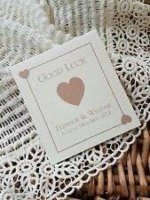 10 PERSONALISED LOTTO £1 SCRATCH CARD HOLDERS WEDDING FAVOUR PLAYING CARD THEME