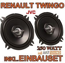 250WATT  Renault Twingo 2 - Lautsprecher - JVC  BOXEN EINBAUSET VORNE-HINTEN NEU