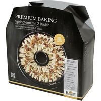 Birkmann Premium Baking Springform mit zwei Böden Spring Form Anithaft 26 cm