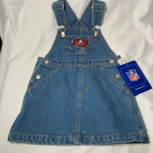 NFL Officially Licensed Child Jean Skirt with Suspenders - Choose Team