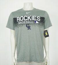 New Nike Colorado Rockies MLB Baseball Gray Tee Shirt Mens Large