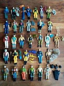 Gi Joe, Cobra, Vintage Figures  X29.. . Lots Weapons N Back Packs
