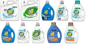 all Liquid Laundry Detergent, Assorted, Original, Free Clear, Oxi - Pick ✔️✔️✔️