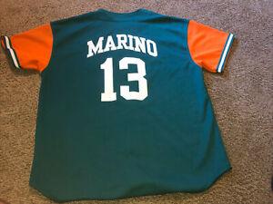 Vintage RARE NFL Starter Miami Dolphins Marino Baseball Jersey Size 2XL Men