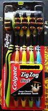 COLGATE  ZIG ZAG BLACK TOOTHBRUSH PACK OF 5-DEEP CLEANING BETWEEN TEETH FREE-S/H