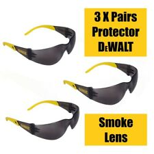 DeWalt Safety Glasses - Protector - Yellow Black Temples - Smoke Lens
