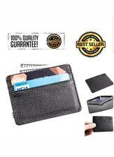 Men Slim Wallet Rfid Block Front Pocket ID window Credit Card Holder Black Thin