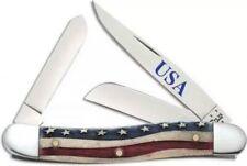 Case xx Stockman Knife Star Spangled Natural Bone US Flag Pocket 64136