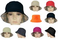 Unisex Reversible Cotton Bucket Beach Festival Haymarket Sun Hat Colour Choice