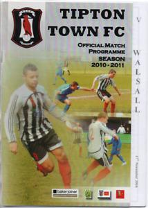 Saddlers : Birmingham Senior Cup - Tipton Town v Walsall 2010 2010/11