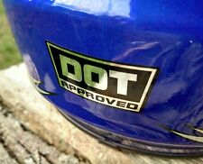 (4) CHROME DOT Approved Motorcycle Helmet Stickers | Vinyl Decals D.O.T. Labels