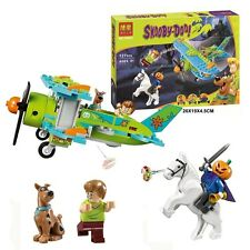 Scooby Doo Dog Mystery Plane Adventures Building Block Toy Shaggy Pumpkin knight