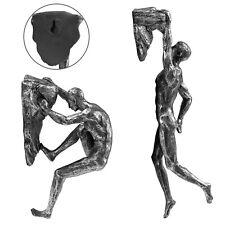 Set Of 2 Climbing Men Wall Hanging Ornament Statue Figurine Home Art Decoration