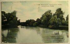 Nashville TN Lake Wautaga in Centennial Park Color Postcard PM 1908 to Nunda NY