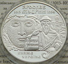 Ukraine 10 UAH 2001 RARE PROOF 1 OZ Silver COA Yaroslav the Wise