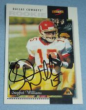Stepfret Williams Signed 1996 Score Football Rookie Card 216 RC Cowboys XFL Auto