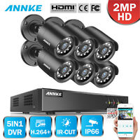 ANNKE 8CH 1080P HDMI DVR 6x 3000TVL IR Outdoor CCTV Home Security Camera System