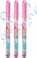 Disney Princess Pack of 3 Bubble Wand with Bubble Solution Garden Games for Kids