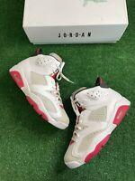 Nike Air Jordan 6 Retro 'Hare' Men's Size 10.5 white/red CT8529-062