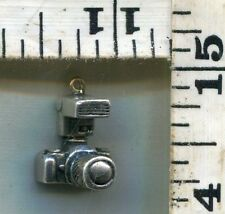 VINTAGE STERLING BRACELET CHARM~#76324~HEAVIER 5.2G 35MM TYPE CAMERA~$18.00!!!