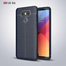 Shockproof For LG G6 Unique Full Cover Leather Pattern Soft Rubber Skin Case