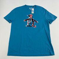 NEW Penguin Munsingwear T Shirt Men's Size XL Short Sleeve Blue Moon Graphic Tee