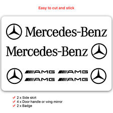 Mercedes Benz Car Decal Vinyl Stickers for AMG A-Class Logo Set of 8