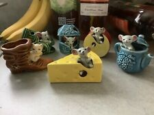 More details for vintage lot of napcoware mouse in figures / figurines japan 1960s