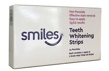 Smiles Pack of 28 Teeth Tooth Whitening Home Bleaching Brightening Strips