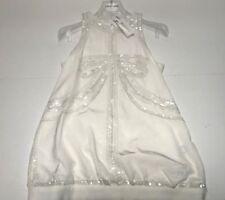 Roberto Cavalli Girls KIDS NEW SILK SEQUIN SLEEVELESS DRESS Sz: 10 RTL $335 P961