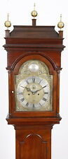 Isaac Brokaw New Jersey Brass Dial Queen Anne Walnut Tall Case Grandfather Clock