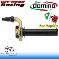 DOMINO COMANDO GAS STRADALE THROTTLE CONTROL 2 FILI COLORE ORO